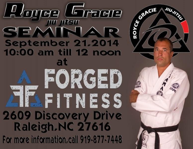 Royce Gracie Jiu Jitsu Seminar Forged Fitness BJJ