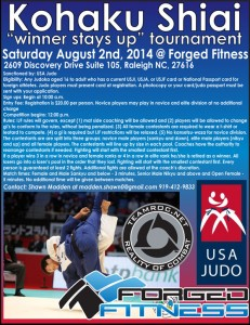 Forged Fitness USA Judo Kohaku Shiai