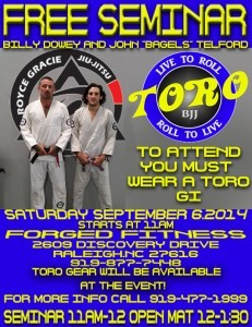 Roll with Toro Free Jiu Jitsu Seminar at Forged Fitness