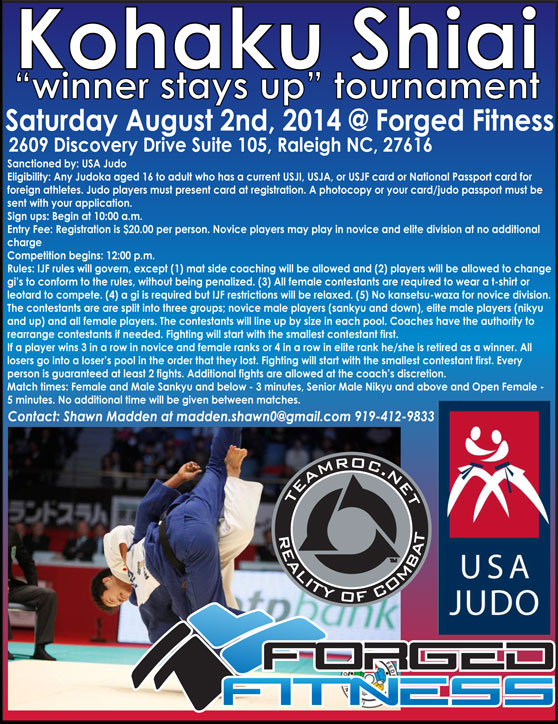 Forged Fitness USA Judo Kohaku Shiai